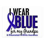 I Wear Blue Grandpa Rheumatoid Arthritis RA Postcard