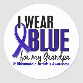 I Wear Blue Grandpa Rheumatoid Arthritis RA Round Sticker