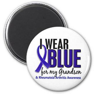 I Wear Blue Grandson 10 Rheumatoid Arthritis RA Fridge Magnets