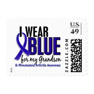 I Wear Blue Grandson 10 Rheumatoid Arthritis RA Postage Stamps