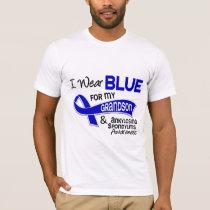 I Wear Blue Grandson 42 Ankylosing Spondylitis T-Shirt