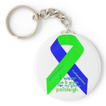 I wear blue/green for my sister Paisleigh keychain