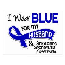 I Wear Blue Husband 42 Ankylosing Spondylitis AS Postcard