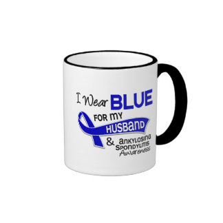 I Wear Blue Husband 42 Ankylosing Spondylitis AS Ringer Coffee Mug