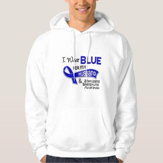 I Wear Blue Husband 42 Ankylosing Spondylitis AS Sweatshirt