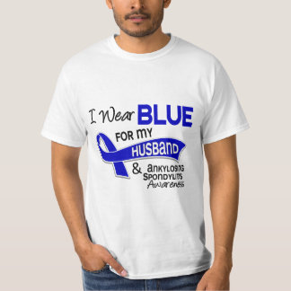 I Wear Blue Husband 42 Ankylosing Spondylitis AS T Shirt
