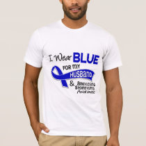 I Wear Blue Husband 42 Ankylosing Spondylitis AS T-Shirt