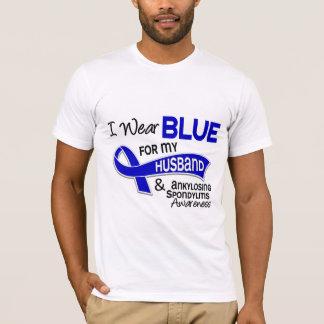 I Wear Blue Husband 42 Ankylosing Spondylitis AS T-Shirt