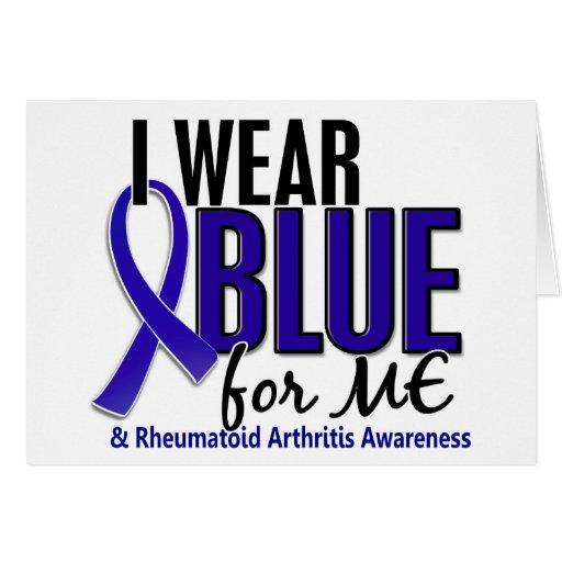 I Wear Blue Me Rheumatoid Arthritis RA Cards