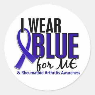 I Wear Blue Me Rheumatoid Arthritis RA Classic Round Sticker