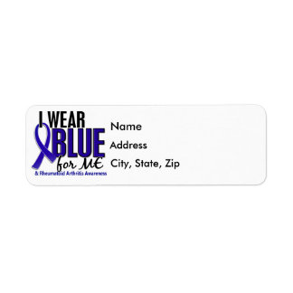 I Wear Blue Me Rheumatoid Arthritis RA Label