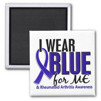 I Wear Blue Me Rheumatoid Arthritis RA 2 Inch Square Magnet