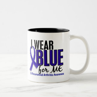 I Wear Blue Me Rheumatoid Arthritis RA Two-Tone Coffee Mug