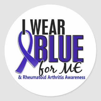 I Wear Blue Me Rheumatoid Arthritis RA Sticker