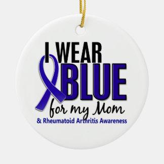 I Wear Blue Mom Rheumatoid Arthritis RA Ornaments