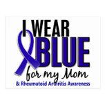 I Wear Blue Mom Rheumatoid Arthritis RA Post Card