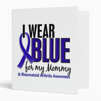 I Wear Blue Mommy Rheumatoid Arthritis RA Vinyl Binder