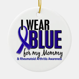 I Wear Blue Mommy Rheumatoid Arthritis RA Ornaments