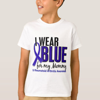 I Wear Blue Mommy Rheumatoid Arthritis RA T-Shirt