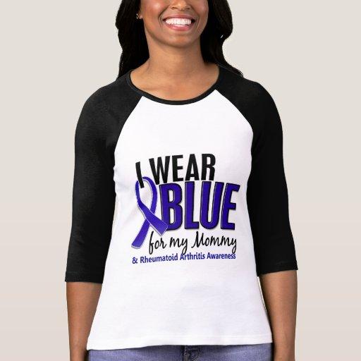 I Wear Blue Mommy Rheumatoid Arthritis RA Tshirts