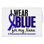 I Wear Blue Nana Rheumatoid Arthritis RA Greeting Card