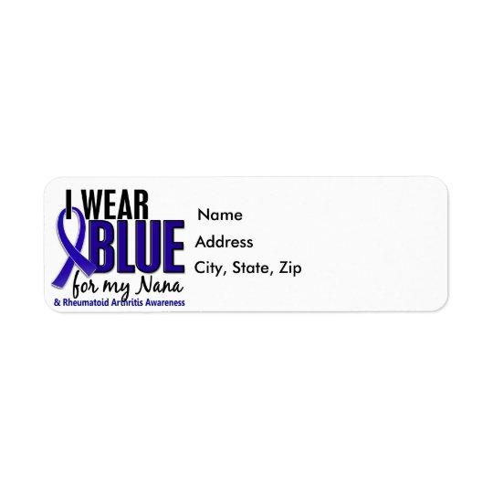 I Wear Blue Nana Rheumatoid Arthritis RA Label