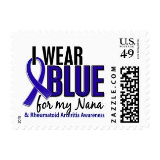 I Wear Blue Nana Rheumatoid Arthritis RA Postage Stamp