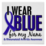 I Wear Blue Nana Rheumatoid Arthritis RA Posters