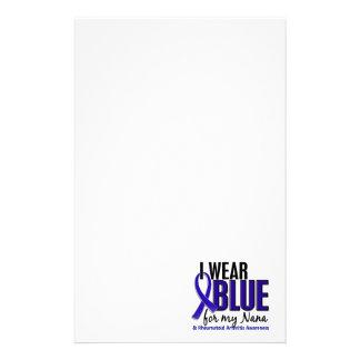 I Wear Blue Nana Rheumatoid Arthritis RA Personalized Stationery