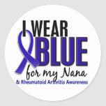 I Wear Blue Nana Rheumatoid Arthritis RA Stickers