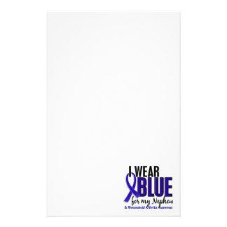 I Wear Blue Nephew Rheumatoid Arthritis RA Customized Stationery