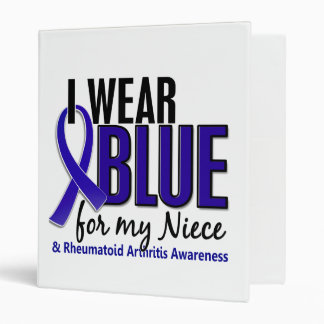 I Wear Blue Niece Rheumatoid Arthritis RA Vinyl Binders