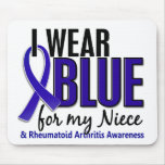 I Wear Blue Niece Rheumatoid Arthritis RA Mouse Pad