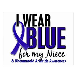 I Wear Blue Niece Rheumatoid Arthritis RA Postcard