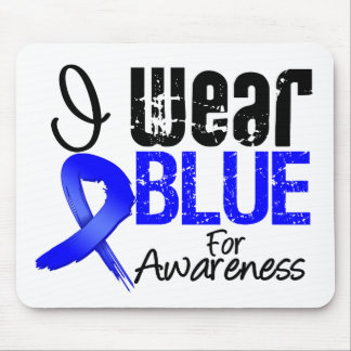 I Wear Blue Ribbon For Colon Cancer Awareness Mouse Mats