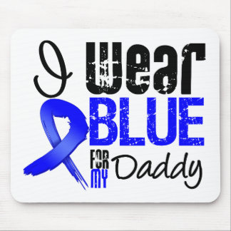 I Wear Blue Ribbon For My Daddy - Colon Cancer Mouse Mats