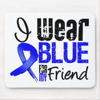 I Wear Blue Ribbon For My Friend - Colon Cancer Mouse Mats