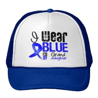 I Wear Blue Ribbon For My Granddaughter - Colon Ca Mesh Hat