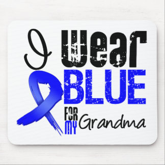 I Wear Blue Ribbon For My Grandma - Colon Cancer Mouse Mats