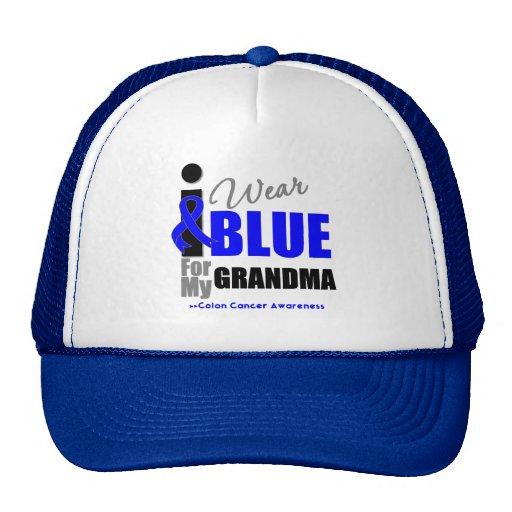 I Wear Blue Ribbon For My Grandma Trucker Hat