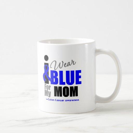 I Wear Blue Ribbon For My Mom Classic White Coffee Mug