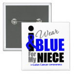I Wear Blue Ribbon For My Niece Button