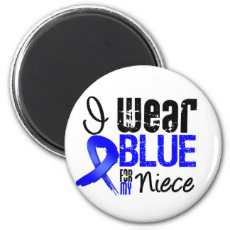 I Wear Blue Ribbon For My Niece - Colon Cancer 2 Inch Round Magnet