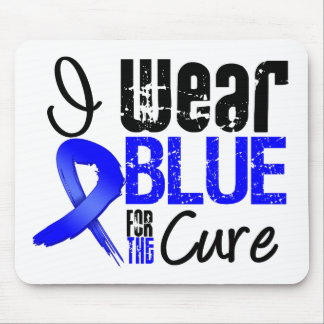 I Wear Blue Ribbon For The Cure - Colon Cancer Mouse Pads