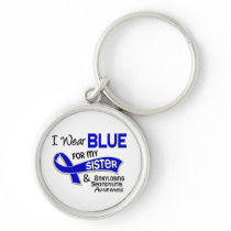 I Wear Blue Sister 42 Ankylosing Spondylitis Keychain