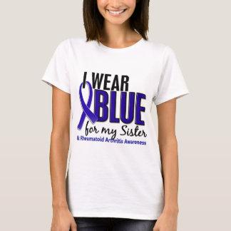 I Wear Blue Sister Rheumatoid Arthritis RA T-Shirt