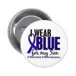 I Wear Blue Son 10 Rheumatoid Arthritis RA Pinback Buttons
