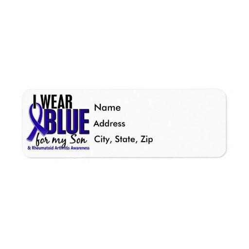 I Wear Blue Son 10 Rheumatoid Arthritis RA Label