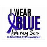 I Wear Blue Son 10 Rheumatoid Arthritis RA Postcard