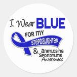 I Wear Blue Stepdaughter 42 Ankylosing Spondylitis Classic Round Sticker